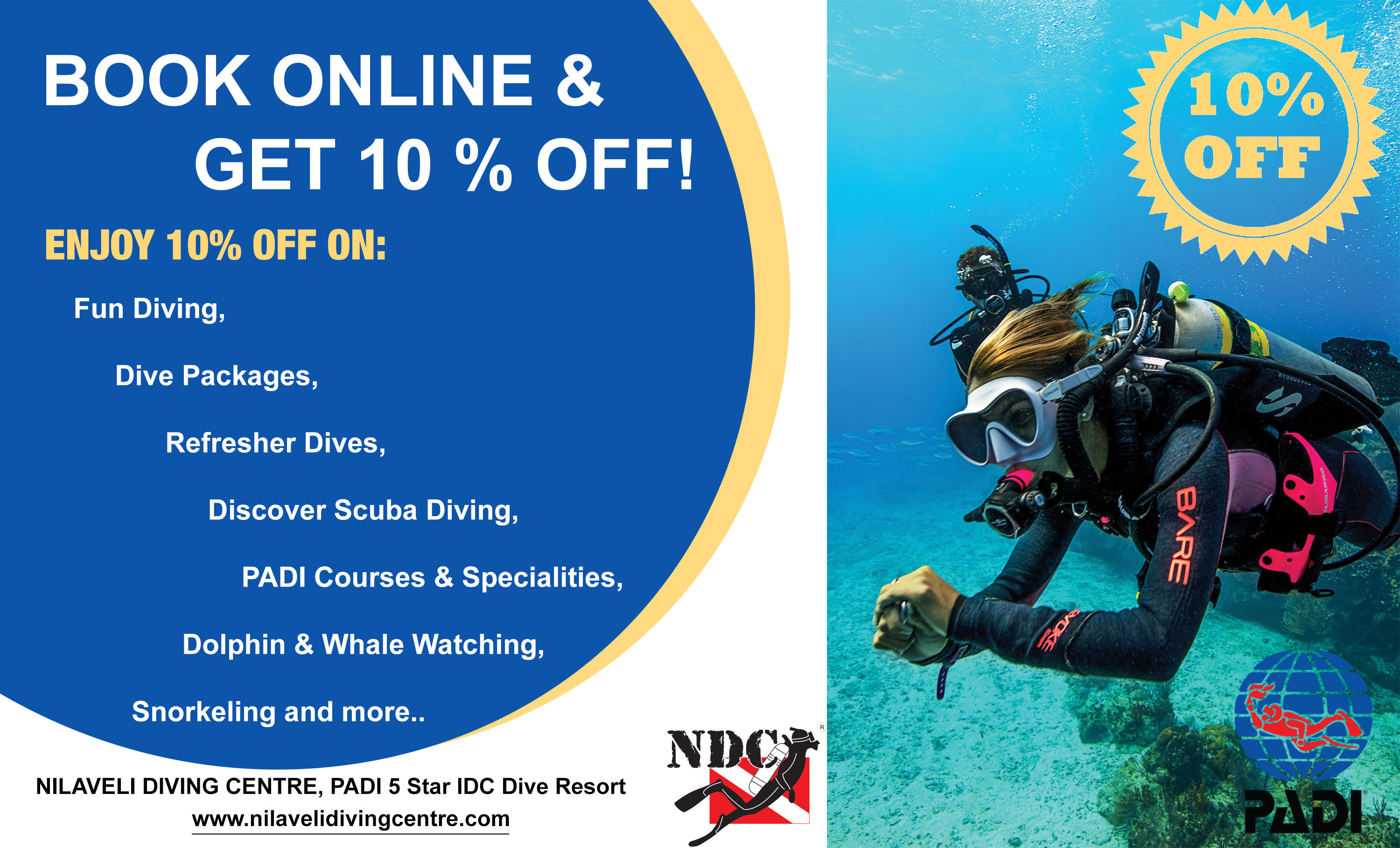 Get 10% OFF for online booking